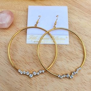 """""""What's Now"""" Large Gold Earrings"""